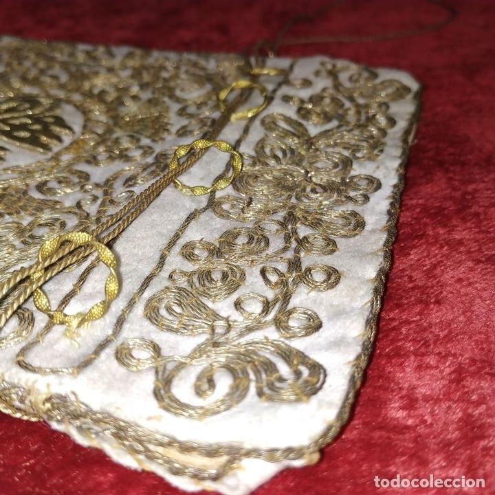 Antigüedades: BOLSA. TERCIOPELO BORDADO CON HILOS DORADOS. TURQUIA (?). XIX-XX - Foto 14 - 149983214
