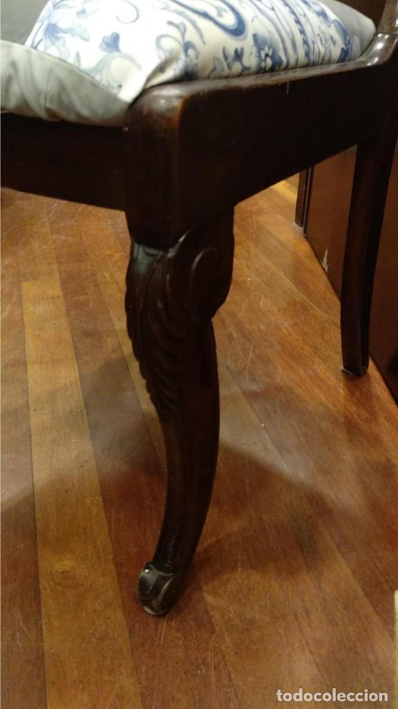Antigüedades: Silla William IV- 1849- Inglaterra. Madera de caoba - Foto 3 - 150004446