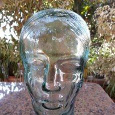 Antigüedades: CABEZA DE CRISTAL. Lote 150028098
