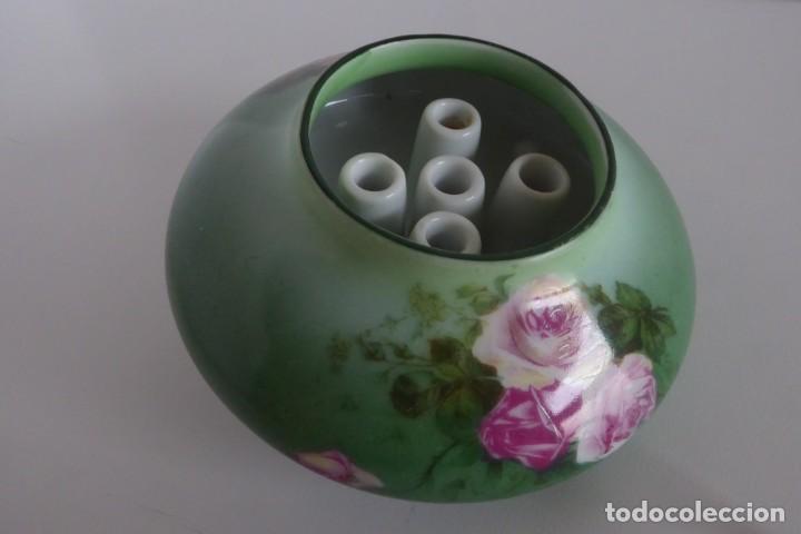 DELICADO CENTRO INGLÉS PARA FLORES (Antigüedades - Porcelanas y Cerámicas - Inglesa, Bristol y Otros)