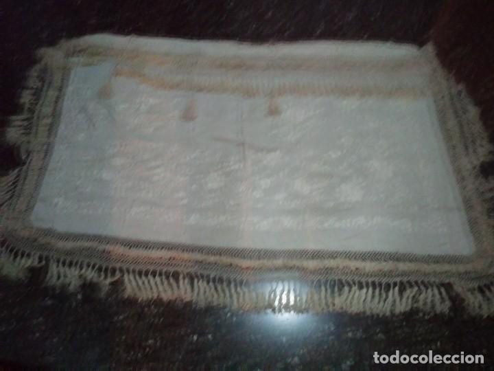 Antigüedades: MANTON MANILA SALIDA DE TEATRO CHAL BORDADO - Foto 5 - 150071146