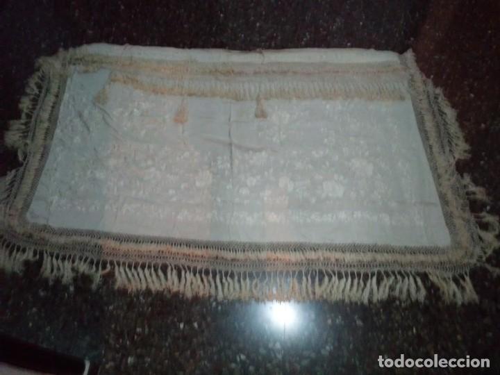 Antigüedades: MANTON MANILA SALIDA DE TEATRO CHAL BORDADO - Foto 8 - 150071146