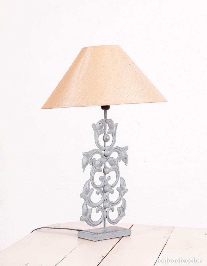Antigüedades: Lámpara De Sobremesa Vintage De Metal - Foto 2 - 150073790