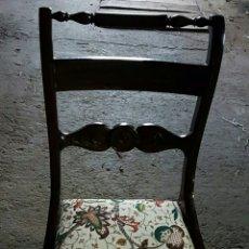 Antigüedades: BONITAS SILLAS EN MADERA (EL PRECIO ES POR UNIDAD)SON 6 UNIDADES. Lote 150077910