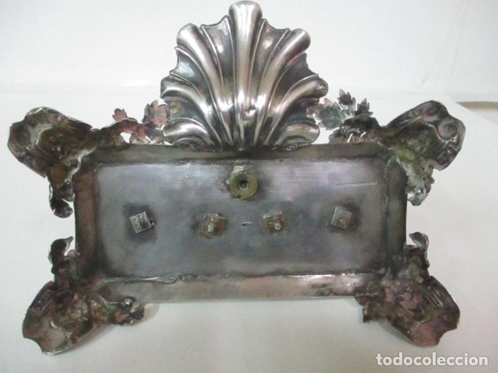 Antigüedades: Preciosa Escribanía Antigua - Pieza de Orfebreria - Plata de Ley - Notario Real -28 de Mayo del 1862 - Foto 33 - 150077978