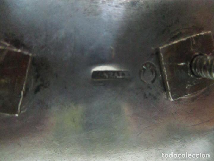 Antigüedades: Preciosa Escribanía Antigua - Pieza de Orfebreria - Plata de Ley - Notario Real -28 de Mayo del 1862 - Foto 34 - 150077978