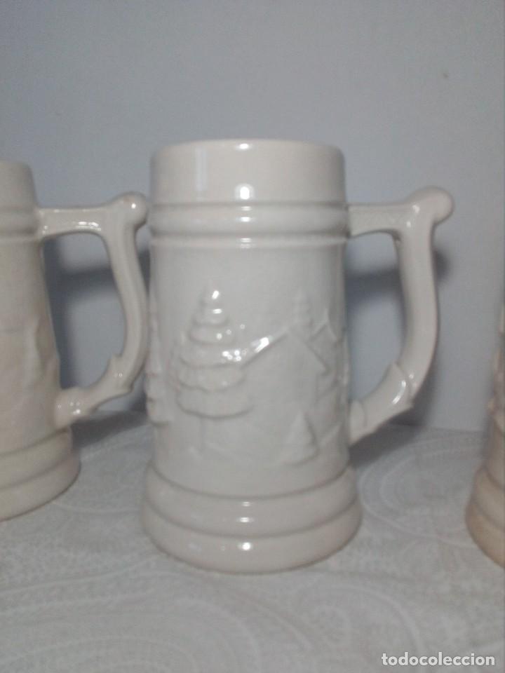 Antigüedades: 3 JARRAS DECORATIVAS DE CERVEZA DE CERÁMICA (PICKMAN S.A - LA CARTUJA - SEVILLA - Foto 3 - 150079938
