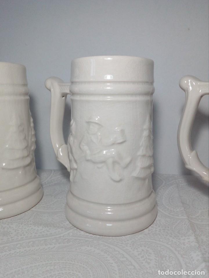 Antigüedades: 3 JARRAS DECORATIVAS DE CERVEZA DE CERÁMICA (PICKMAN S.A - LA CARTUJA - SEVILLA - Foto 7 - 150079938