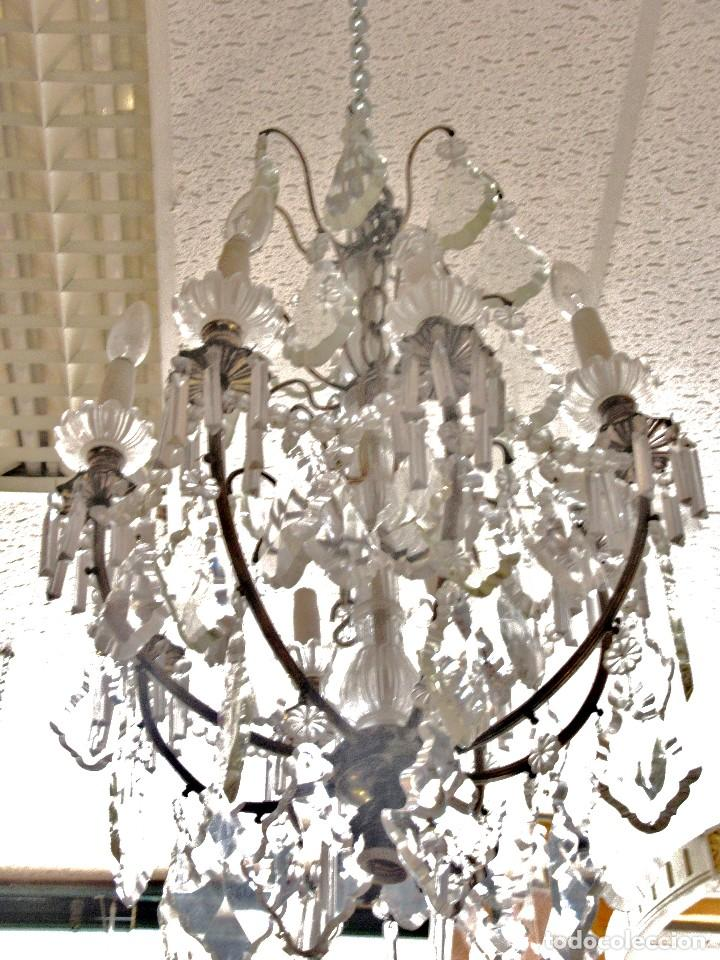 Antigüedades: LÁMPARA PLATEADA DE CRISTAL DE ROCA - Foto 2 - 150092906