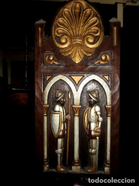 Antigüedades: Silla rustica tallada y policromada - Foto 3 - 150098442
