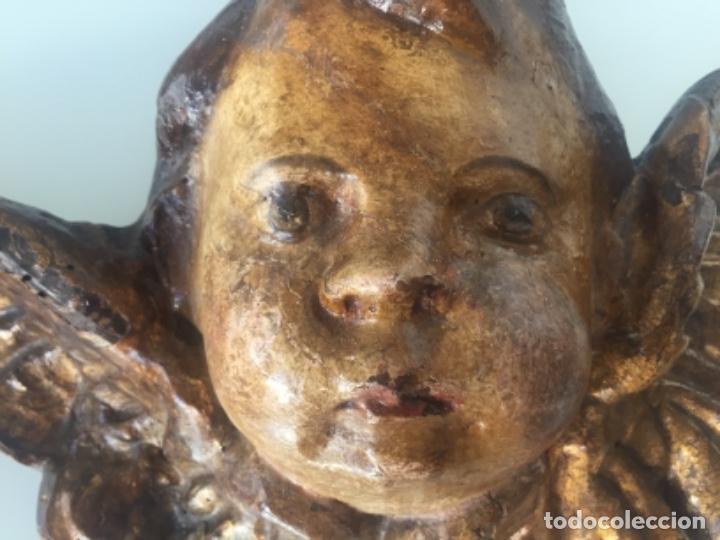 Antigüedades: ANTIGUO QUERUBÍN SIGLO XVII - Foto 2 - 150113502