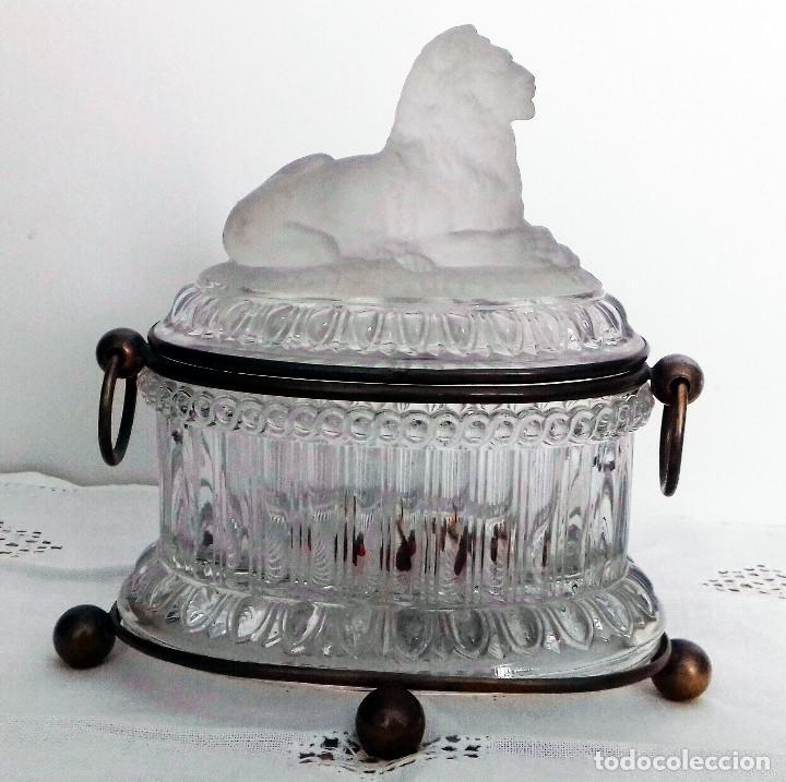 CAJA DE CRISTAL Y LATÓN (Antigüedades - Cristal y Vidrio - Lalique )