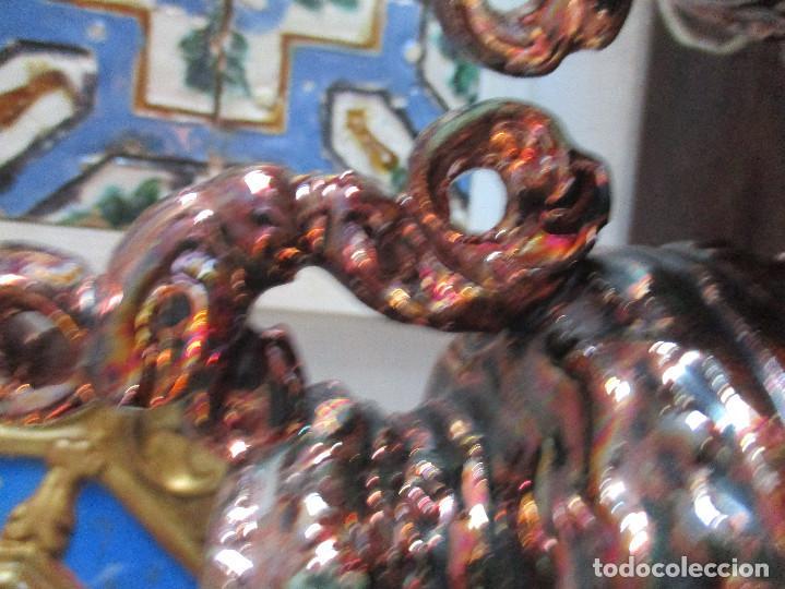 Antigüedades: Pareja de jarrones de reflejos (Triana) - Foto 3 - 150174518