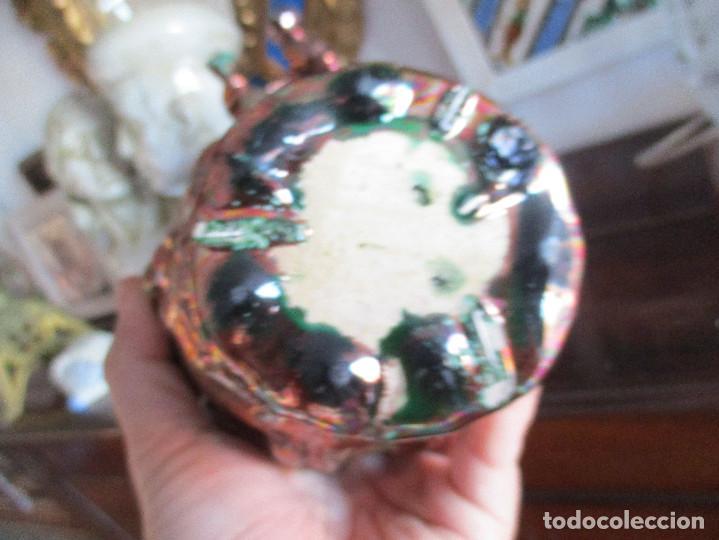 Antigüedades: Pareja de jarrones de reflejos (Triana) - Foto 8 - 150174518