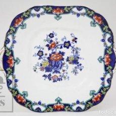 Antigüedades: FUENTE DE PORCELANA INGLESA AYNSLEY - DECORACIÓN FLORAL AZUL COBALTO - MARCADA EN BASE, C. 1925. Lote 150220198