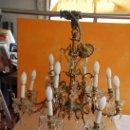 Antigüedades: LAMPARA DE BRONCE DE TECHO. Lote 150233978