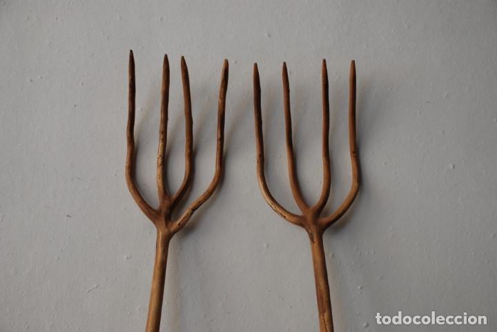 Antigüedades: Antiguas horcas de madera - Foto 2 - 150237394