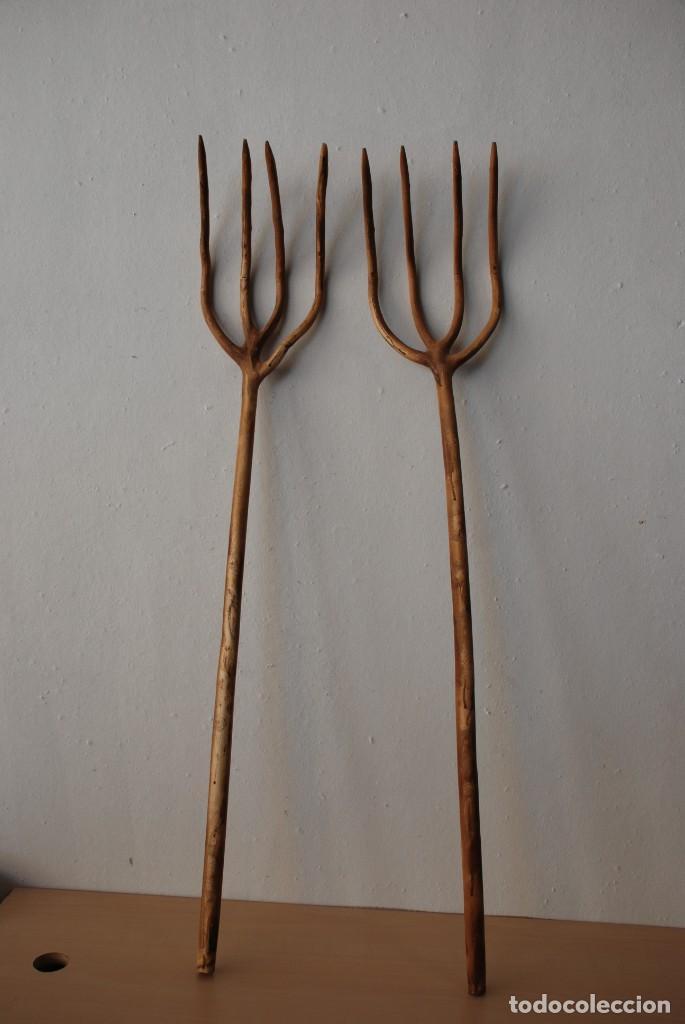 Antigüedades: Antiguas horcas de madera - Foto 3 - 150237394