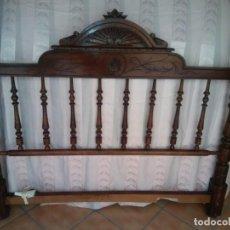 Antigüedades: CABECERO Y PIE DE CAMA ANTIGUO. Lote 150255086