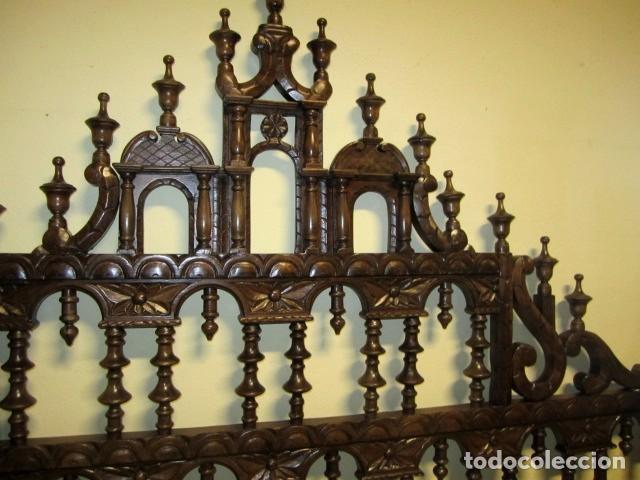 Antigüedades: Cabecero rustico antiguo torneado - Foto 4 - 150257370