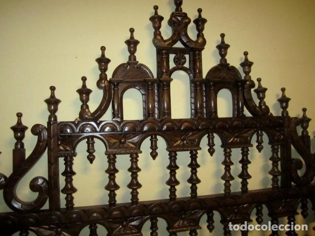 Antigüedades: Cabecero rustico antiguo torneado - Foto 6 - 150257370