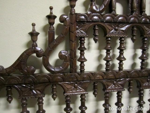 Antigüedades: Cabecero rustico antiguo torneado - Foto 7 - 150257370