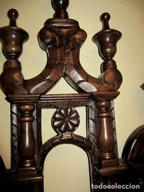 Antigüedades: Cabecero rustico antiguo torneado - Foto 9 - 150257370