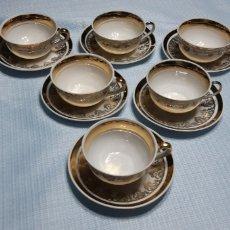 Antigüedades: JUEGO CAFE 6 TAZAS CERAMICA JAGER. Lote 150262181