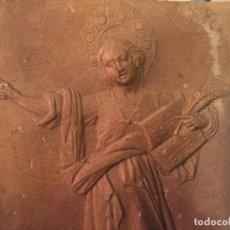 Antigüedades: ANTIGUO SAN PANCRACIO EN LAMINA DE CARTÓN REPUJADO DE PRINCIPIOS DE SIGLO XX. Lote 150290126