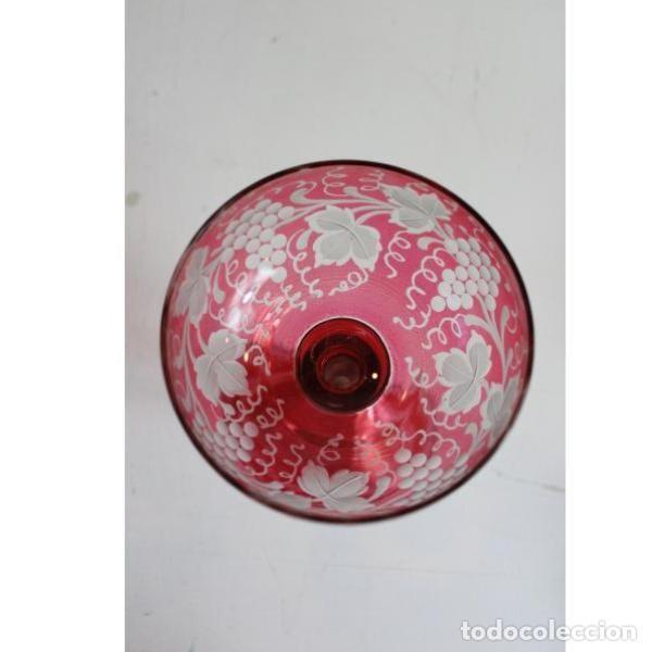 Antigüedades: Antiguas copas de cristal de bohemia - Foto 5 - 182363000