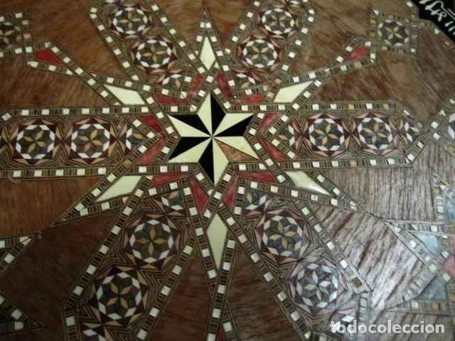 Antigüedades: Velador estilo arabe con taracea, marqueteria - Foto 3 - 150340742