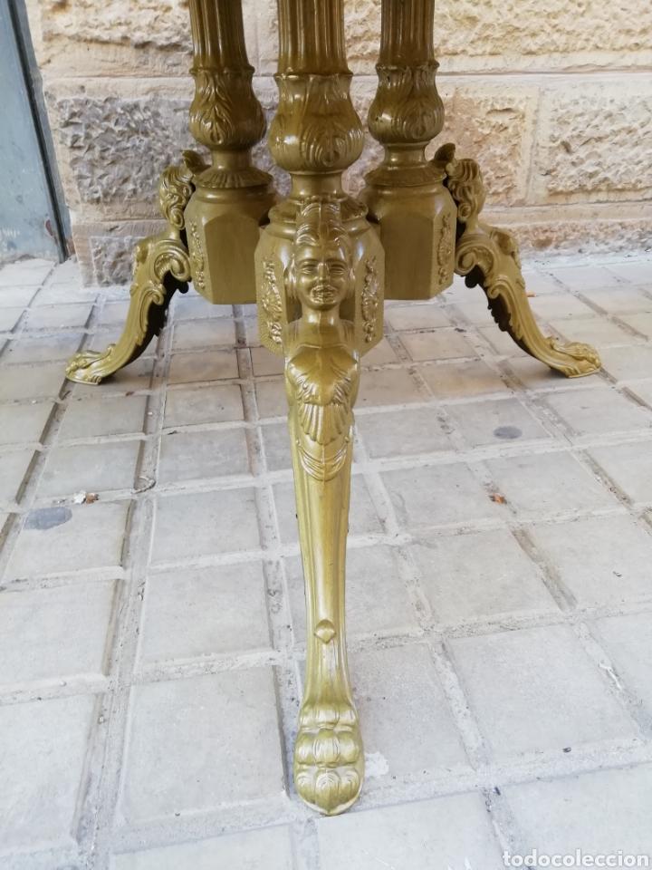 Antigüedades: Velador de bronce - Foto 2 - 150352766