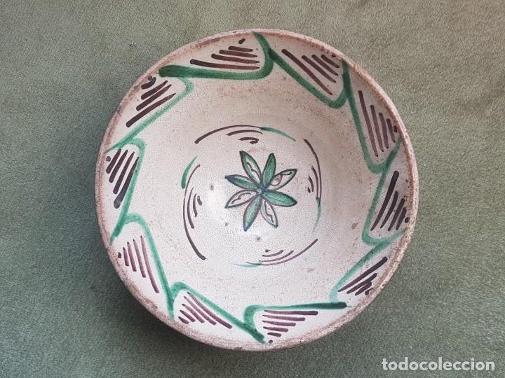 PLATO O CUENCO DE CERÁMICA DE TERUEL S XVIII/XIX (Antigüedades - Porcelanas y Cerámicas - Teruel)