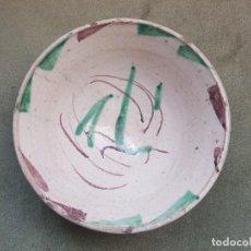 Antigüedades: PLATO O CUENCO DE CERÁMICA DE TERUEL S XVIII/XIX. Lote 150372026