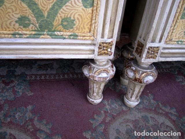 Antigüedades: Pareja de camas de 90 estilo LXV con mesilla de noche - Foto 4 - 150392822