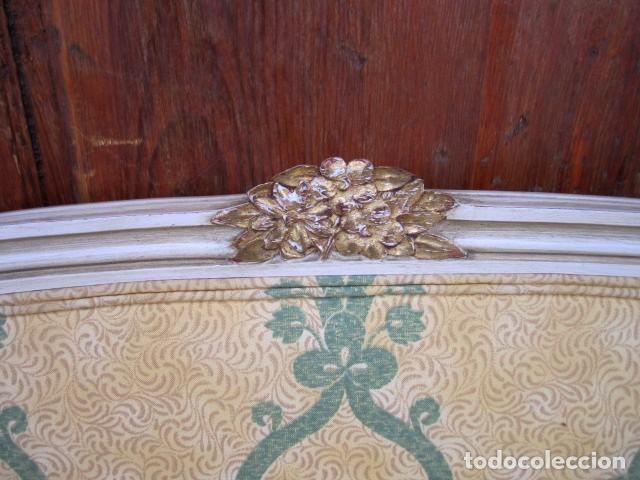 Antigüedades: Pareja de camas de 90 estilo LXV con mesilla de noche - Foto 5 - 150392822