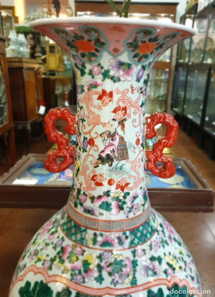 Antigüedades: gran jarron porcelain chino china quialong - Foto 2 - 150434478