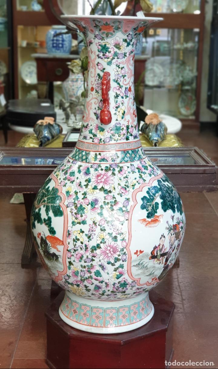 Antigüedades: gran jarron porcelain chino china quialong - Foto 3 - 150434478