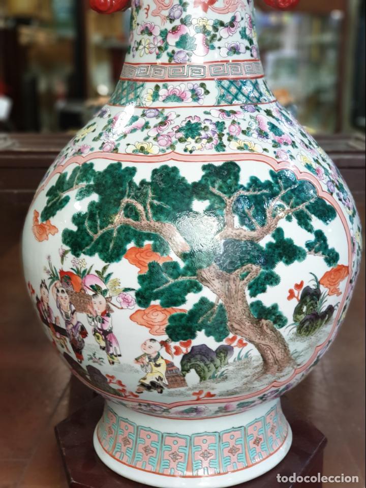 Antigüedades: gran jarron porcelain chino china quialong - Foto 5 - 150434478