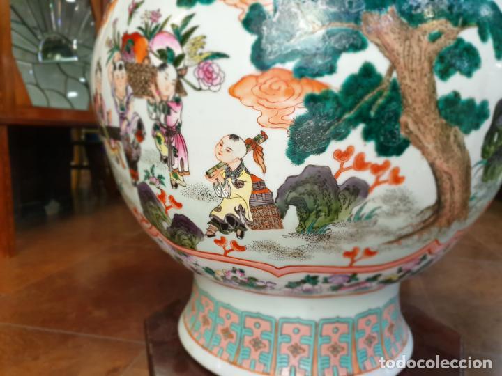 Antigüedades: gran jarron porcelain chino china quialong - Foto 6 - 150434478