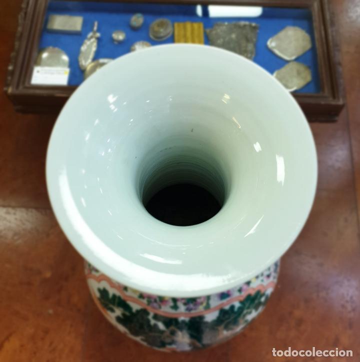 Antigüedades: gran jarron porcelain chino china quialong - Foto 7 - 150434478