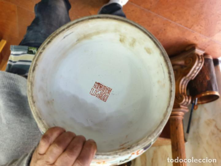 Antigüedades: gran jarron porcelain chino china quialong - Foto 8 - 150434478