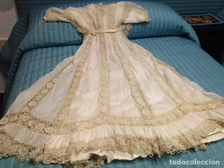 VESTIDO NIÑA 1900/1905 PUNTILLA CON OTRO VESTIDO INTERIOR DE TELA VER FOTOS (Antigüedades - Moda y Complementos - Infantil)