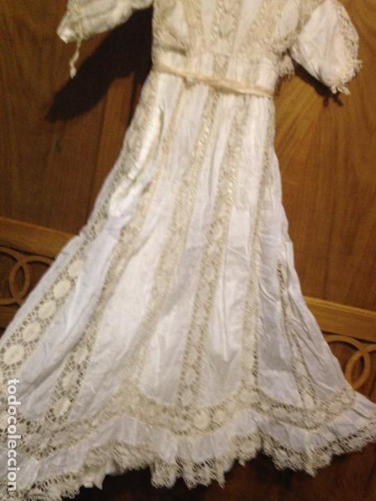 Antigüedades: Vestido niña 1900/1905 puntilla con otro vestido interior de tela VER FOTOS - Foto 6 - 150448822