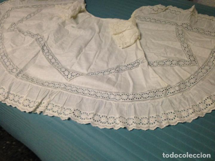 Antigüedades: Vestido niña 1900/1905 con capa separada VER FOTOS - Foto 3 - 150461010