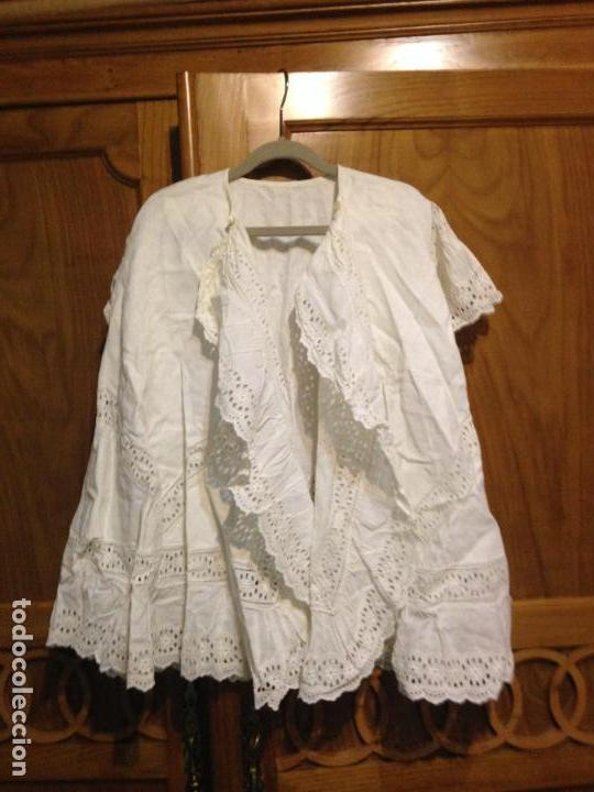 Antigüedades: Vestido niña 1900/1905 con capa separada VER FOTOS - Foto 4 - 150461010