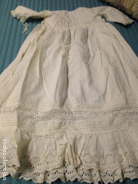Antigüedades: Vestido niña 1900/1905 con capa separada VER FOTOS - Foto 5 - 150461010