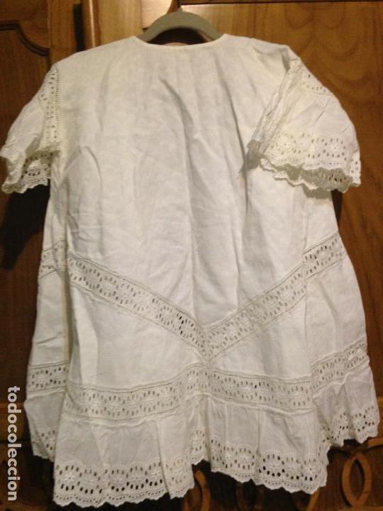 Antigüedades: Vestido niña 1900/1905 con capa separada VER FOTOS - Foto 6 - 150461010
