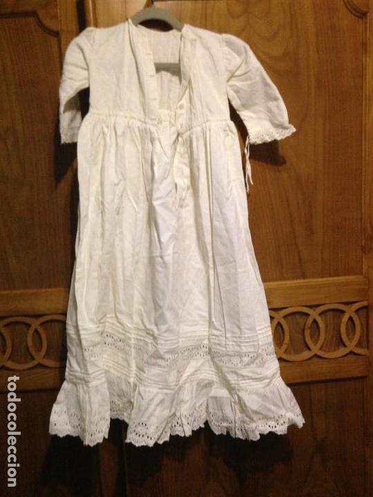 Antigüedades: Vestido niña 1900/1905 con capa separada VER FOTOS - Foto 8 - 150461010