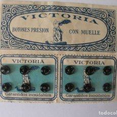 Antigüedades: ANTIGUOS CORCHETES NEGROS VICTORIA. Lote 150467738